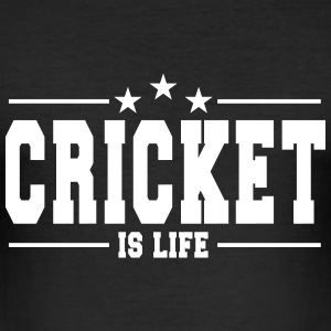 cricket is life 1 T-Shirts - Men's Slim Fit T-Shirt