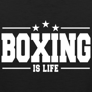 boxing is life 1 Sportkleding - Mannen Premium tank top