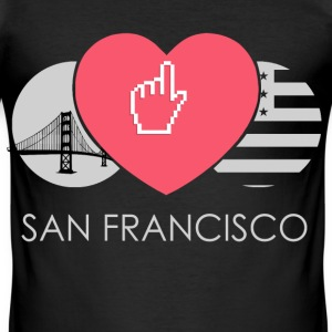 IN LOVE WITH SAN FRANCISCO T-Shirts - Männer Slim Fit T-Shirt