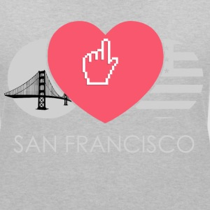 IN LOVE WITH SAN FRANCISCO T-Shirts - Frauen T-Shirt mit V-Ausschnitt