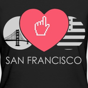 IN LOVE WITH SAN FRANCISCO T-Shirts - Frauen Bio-T-Shirt