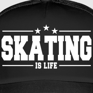 skating is life 1 Kepsar & mössor - Trucker Cap