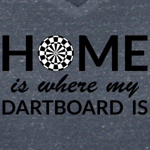 Home is where my Dartboard is T-Shirts - Frauen T-Shirt mit V-Ausschnitt