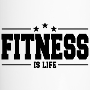 fitness is life 1 Bouteilles et Tasses - Mug thermos