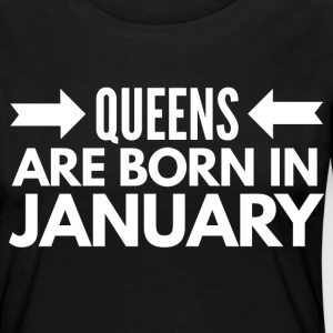 Queens are born in January Long Sleeve Shirts - Women's Premium Longsleeve Shirt