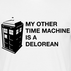 Doctor Who - My other Time Machine is a Delorean - Männer T-Shirt