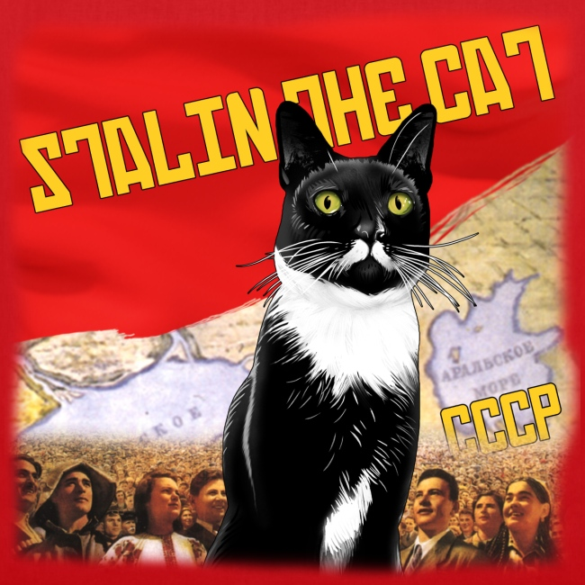 Stalin the Cat Propaganda Bag