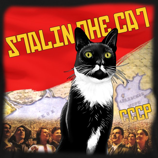 Stalin the Cat Propaganda Men's Tee