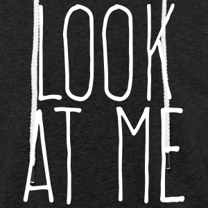 look at me Sweatshirts - Let sweatshirt med hætte, unisex