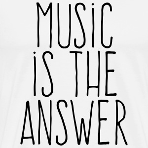 music is the answer T-Shirts - Men's Premium T-Shirt