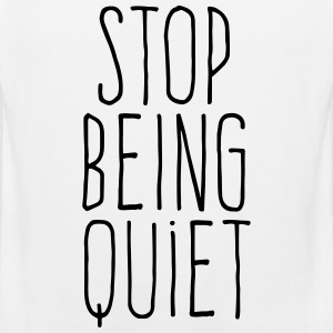stop being quiet Vêtements de sport - Débardeur Premium Homme