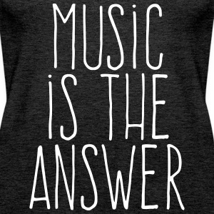 music is the answer Toppe - Dame Premium tanktop