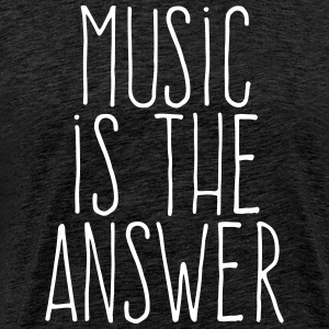 music is the answer T-skjorter - Premium T-skjorte for menn