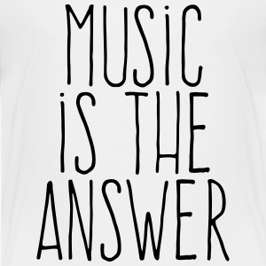 music is the answer T-shirts - Børne premium T-shirt