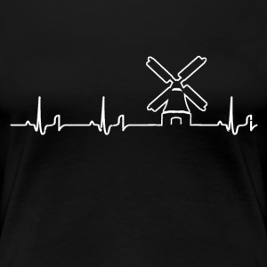 Heartbeat - Windmühle Shirt Damen - Frauen Premium T-Shirt