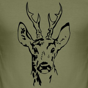 Rehbock - Hirsch - Deer T-Shirts - Männer Slim Fit T-Shirt