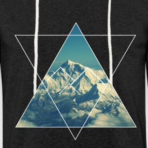 Mountain from the sky  - Sweat-shirt à capuche léger unisexe