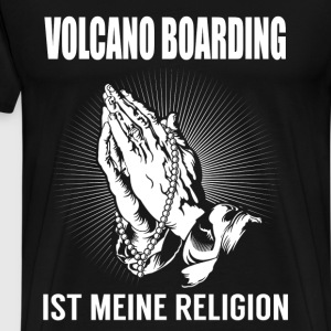 Volcano boarding - my religion T-Shirts - Men's Premium T-Shirt