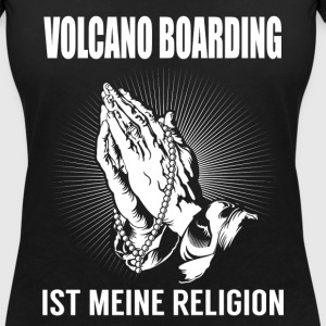 Volcano boarding - my religion T-Shirts - Women's V-Neck T-Shirt