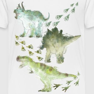 Animal Planet Various Dinosaurs Watercolour - Børne premium T-shirt