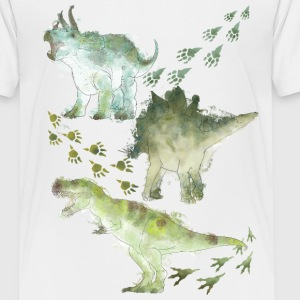 Animal Planet Various Dinosaurs Watercolour - Teenage Premium T-Shirt