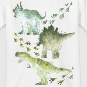 Animal Planet Various Dinosaurs Watercolour - Kids' T-Shirt