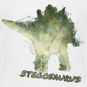 Animal Planet Dinosaurs Stegosaurus Watercolour - Teenage Premium T-Shirt