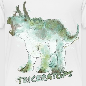Animal Planet Dinosaurs Triceratops Watercolour - Børne premium T-shirt