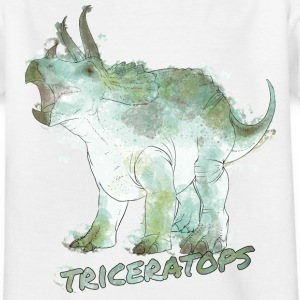Animal Planet Dinosaurs Triceratops Watercolour - T-shirt tonåring