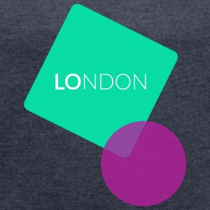London UK - limpid T-Shirts - Frauen T-Shirt mit gerollten Ärmeln