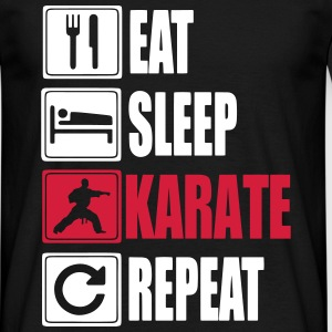 Eat Sleep Karate Repeat Magliette - Maglietta da uomo