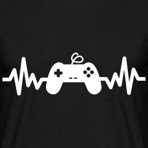 Gaming is life - geek gamer gaming Sprüche - Männer T-Shirt