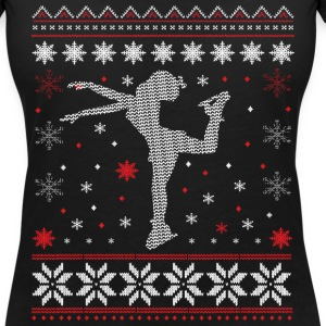 Skating - figure skating - ugly Christmas T-Shirts - Women's V-Neck T-Shirt