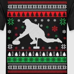Curling - Ugly Christmas T-shirts - Herre-T-shirt