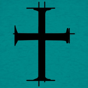 dimensions striche croix logo christian jesus chri Tee shirts - T-shirt Homme