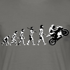 Motorbike Wheelie Evolution Biker Tees - Men's T-Shirt