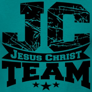 Jesus, christian, team, crew, friends, spoof, text T-Shirts - Men's T-Shirt