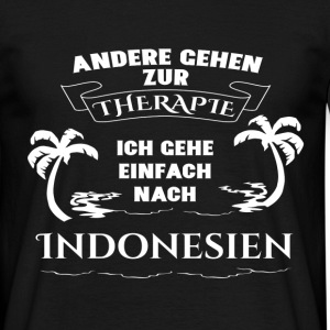 Indonesië - therapie - vakantie T-shirts - Mannen T-shirt