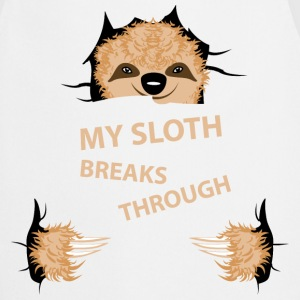 my sloth breaks trouth  Aprons - Cooking Apron