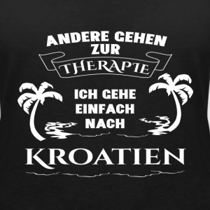 Croatia - therapy - holiday T-Shirts - Women's V-Neck T-Shirt