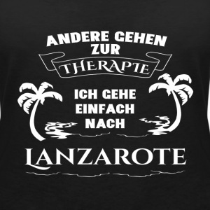 Lanzarote - therapy - holiday T-Shirts - Women's V-Neck T-Shirt