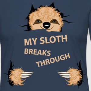my sloth breaks trouth Manches longues - T-shirt manches longues Premium Femme