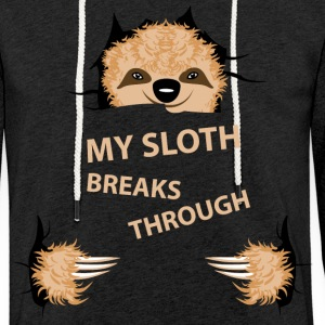 my sloth breaks trouth Sweaters - Lichte hoodie unisex