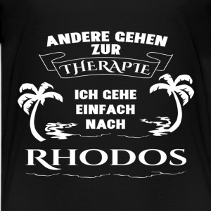 Rhodes - therapy - holiday Shirts - Teenage Premium T-Shirt