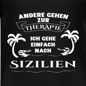Sicily - therapy - holiday Shirts - Teenage Premium T-Shirt