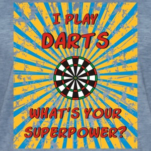 I play Darts what's your  Superpower? T-Shirts - Männer Vintage T-Shirt