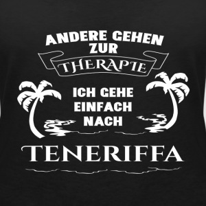 Tenerife - therapy - holiday T-Shirts - Women's V-Neck T-Shirt