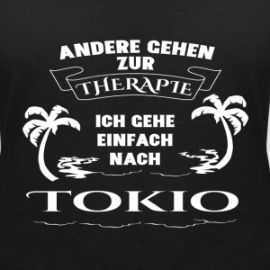 Tokyo - therapy - holiday T-Shirts - Women's V-Neck T-Shirt