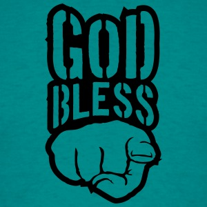 Bless god bless you finger show hand funny god jes T-Shirts - Men's T-Shirt