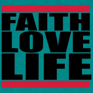 Red bar jesus cool faith love life live faith love T-Shirts - Men's T-Shirt